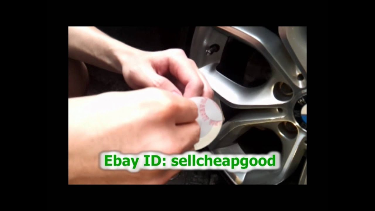How To Apply Wheel Center Cap Cover Decals Stickers YouTube - Bmw decals for wheels