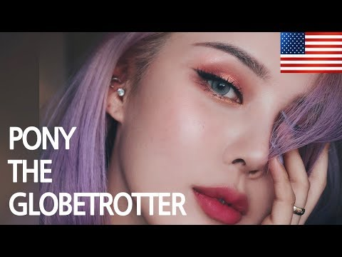 PONY THE GLOBETROTTER + GRWM (With subs) L.A. Rose Gold Makeup 로즈골드 메이크업 - 엘에이편