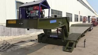 Download Video 4 Axles Hydraulic detachable gooseneck lowboy trailer 120 tons MP3 3GP MP4