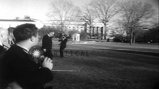 Prime Minister Lester Peterson of Canada and United States President Lyndon Johns...HD Stock Footage