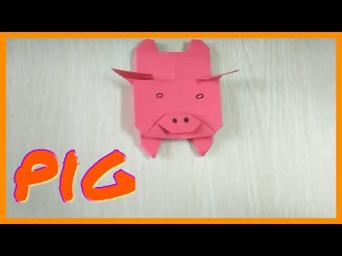 Make pig with paper very easy paper arts for your kids you should try it