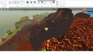 Roblox Studio: Playing The New Template Called Volcanic Island!