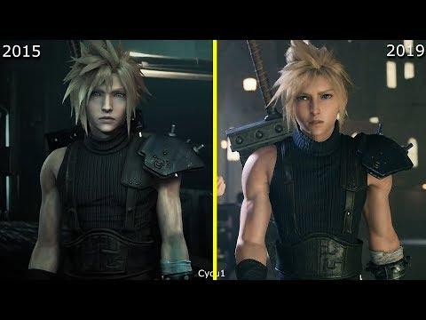 Final Fantasy VII Remake 2015 Vs 2019 Early Graphics Comparison