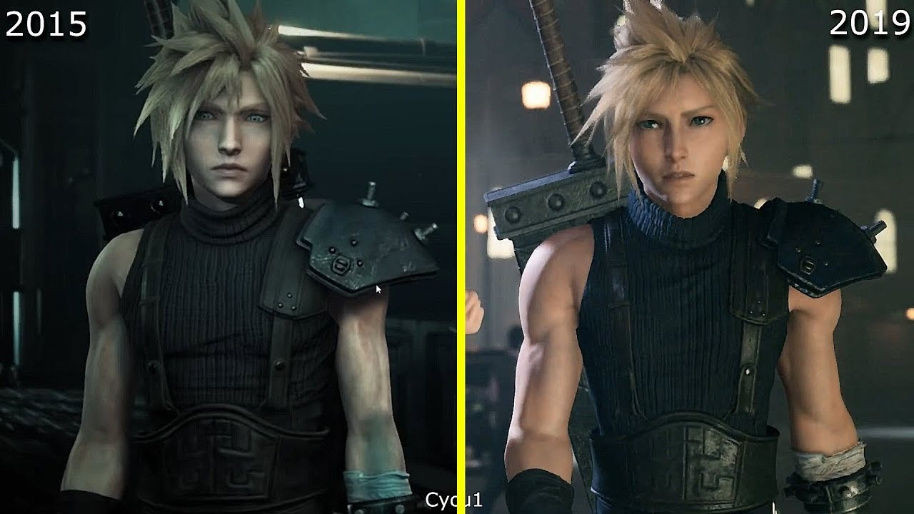 Final Fantasy Vii Remake 2015 Vs 2019 Early Graphics
