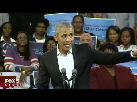 Former Pres. Obama in Georgia for Stacey Abrams