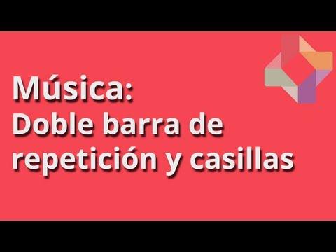 Doble barra de repetición y casillas - Música - Educatina