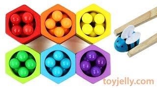 Learn Colors and Numbers with Fun Toy Bees and Beehive Teach Kids Colors with Baby Toys
