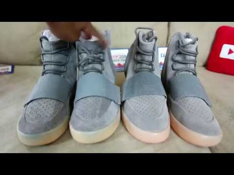 d125aac32d66 Adidas Yeezy 750 Boost(Light Grey Gum Sole) W On Foot Review - YouTube