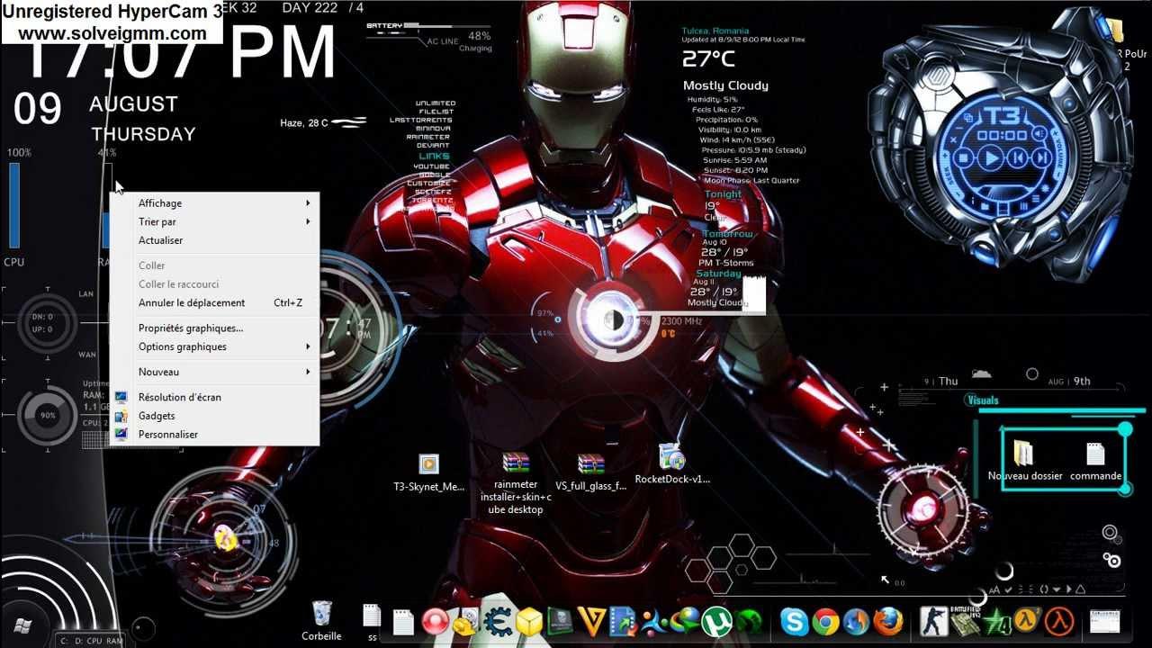 Iron man 3 theme for windows 7 download.