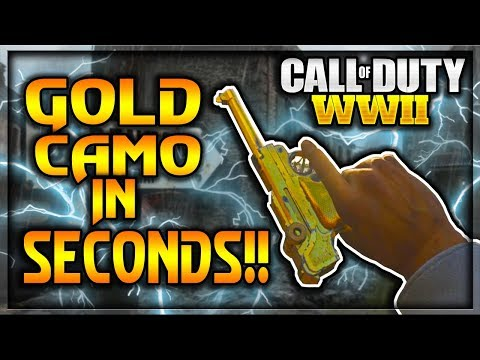HOW TO GET GOLD CAMO IN CALL OF DUTY WW2 IN SECONDS!?! (Gold Camo Tutorial/Glitch)