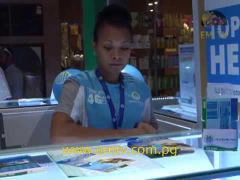 Telikom 4G LTE Kiosk at Port Moresby's Vision City Mall