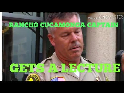 RANCHO CUCAMONGA POLICE CAPTAIN GETS A EAR FULL/ 1ST AMENDMENT AUDIT/ W/HIGH DESERT COMMUNITY WATCH