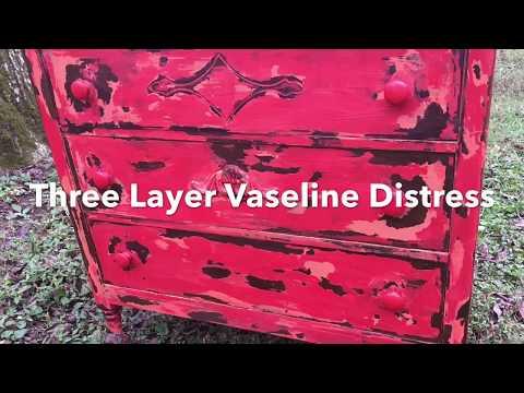 Three Color Vaseline Distress Chalk Paint Chippy New Technique DIY Chalkpaint