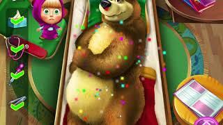 Игра Маша и Медведь  Пострадавший Мишка