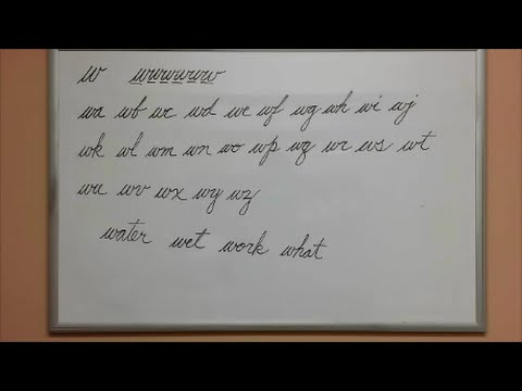 How to Connect Cursive W - American Handwriting - YouTube