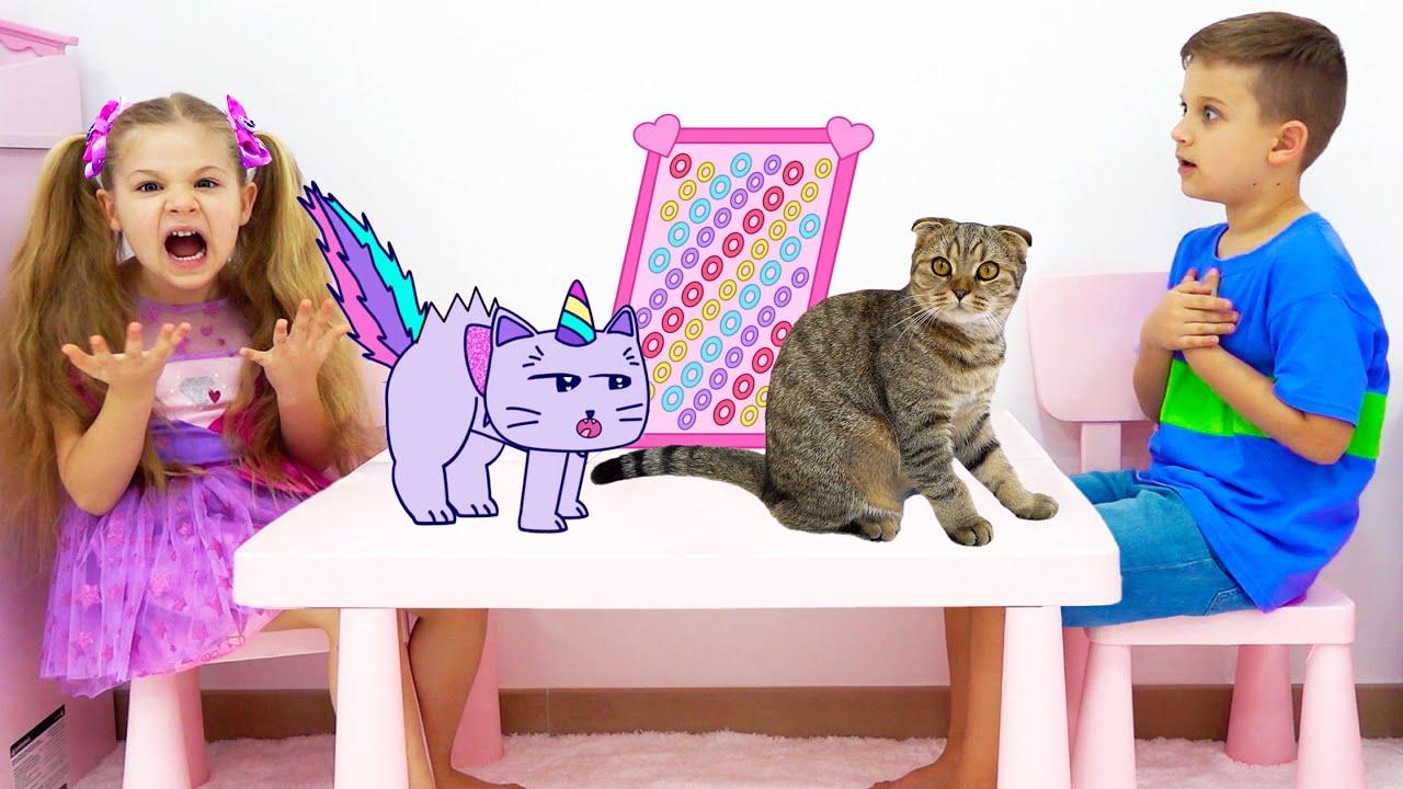 Диана Рома и их Приключения с Кошками в мультяшном мире