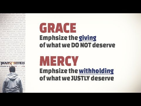 The difference between Grace and Mercy - YouTube