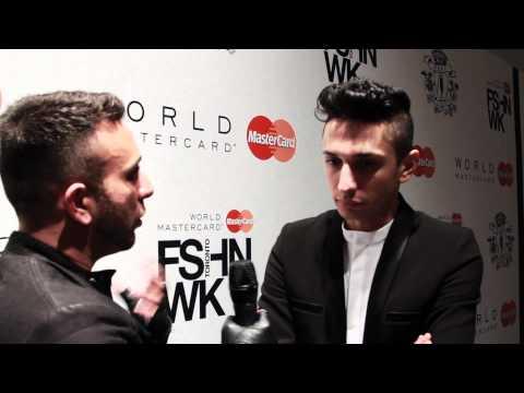 [INTERVIEW]  Freshly Educated Men – Rad Hourani at Toronto Fashion Week 2012