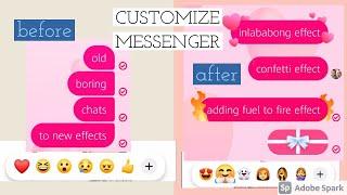 Facebook Messenger newest update | chat effects | emoji | Gift and Heart Effects | RR's kaARTihan screenshot 3