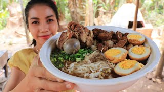 Yummy cooking Noodle soup pork recipe