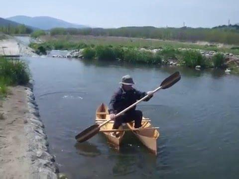 ベニヤ1.3枚でカタマラン(双胴船)! - YouTube