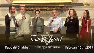 Temple Israel's February 15, 2019 Kabbalat Shabbat