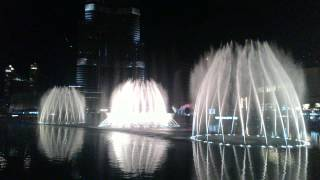 Dubai Fountain - UAE National Anthem