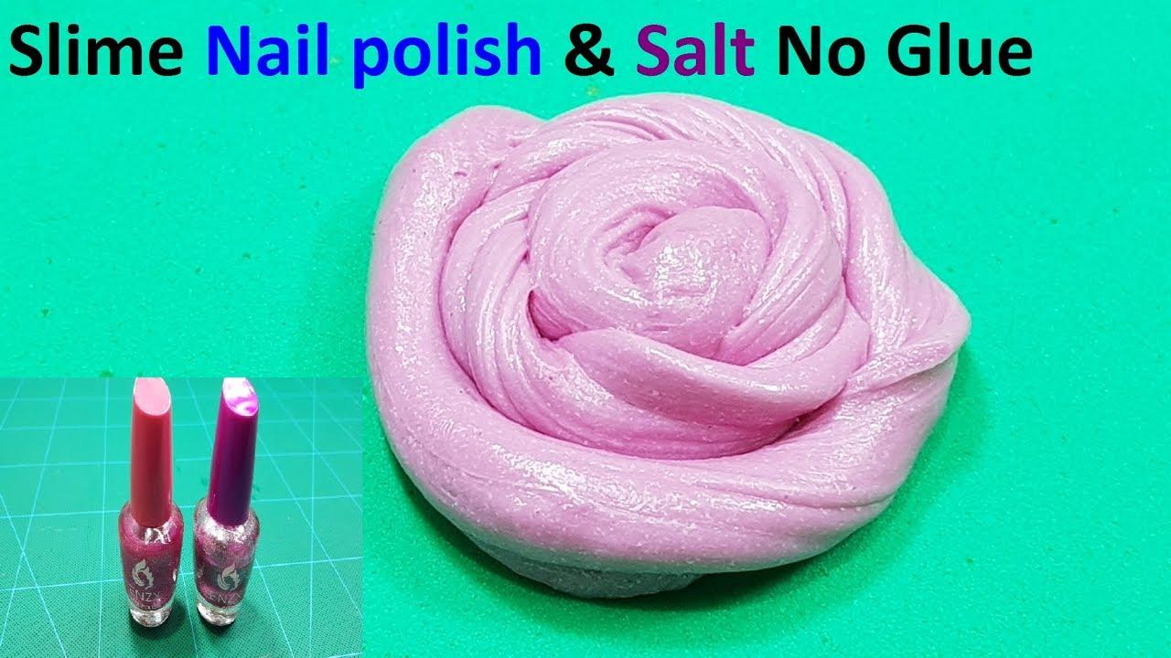 diy nail polish slime with salt