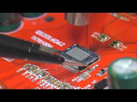 Ремонт платы усилителя на м/с TDA7498e: Замена микросхемы