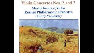 MAXIM FEDOTOV violin M.BRUCH Violin Concertos №2,№3
