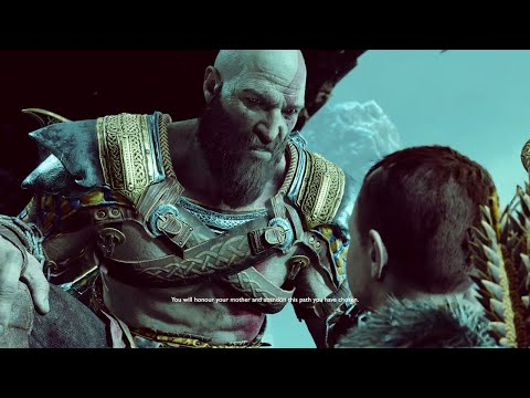 God of War 4 - Atreus Disrespects His Mother & Attacks Kratos, Kratos Gets Mad (GoW 2018) PS4 Pro