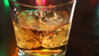 Scotch Whiskey on Rocks, whisky on the rocks [HD]