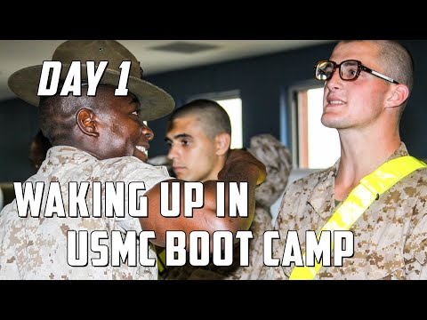 Marine Corps Boot Camp - Morning Routine