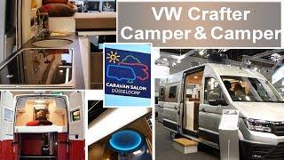 Vw crafter @ caravan salon - new in 2018 - westfalia knaus california xxl schwabenmobil volkswagen