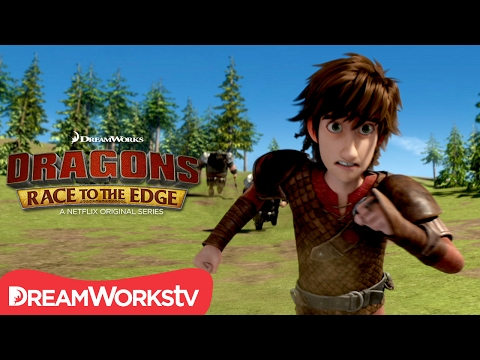 Hiccup on the Run | DRAGONS: RACE TO THE EDGE