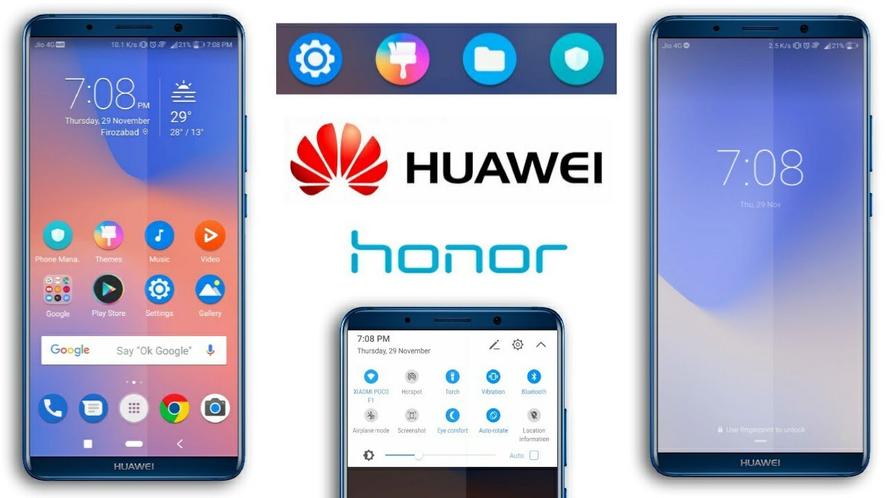 Huawei/Honor (EMUI) Themes : Pixel 3 Theme