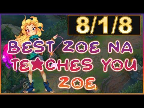 Best Zoe NA Teaches You Zoe   Erick Dota Zoe Full Game With Educational Commentary   Preseason 10