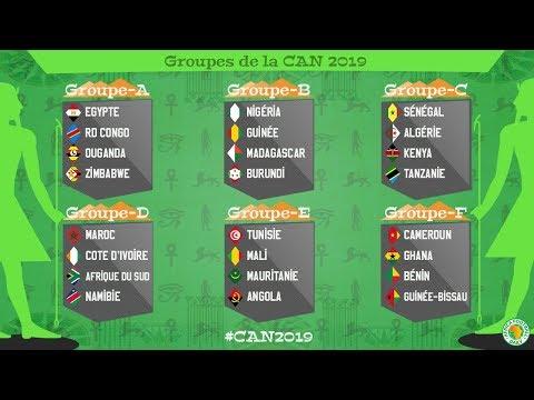 CAN 2019 : Les 6 Groupes de la Coupe d'Afrique