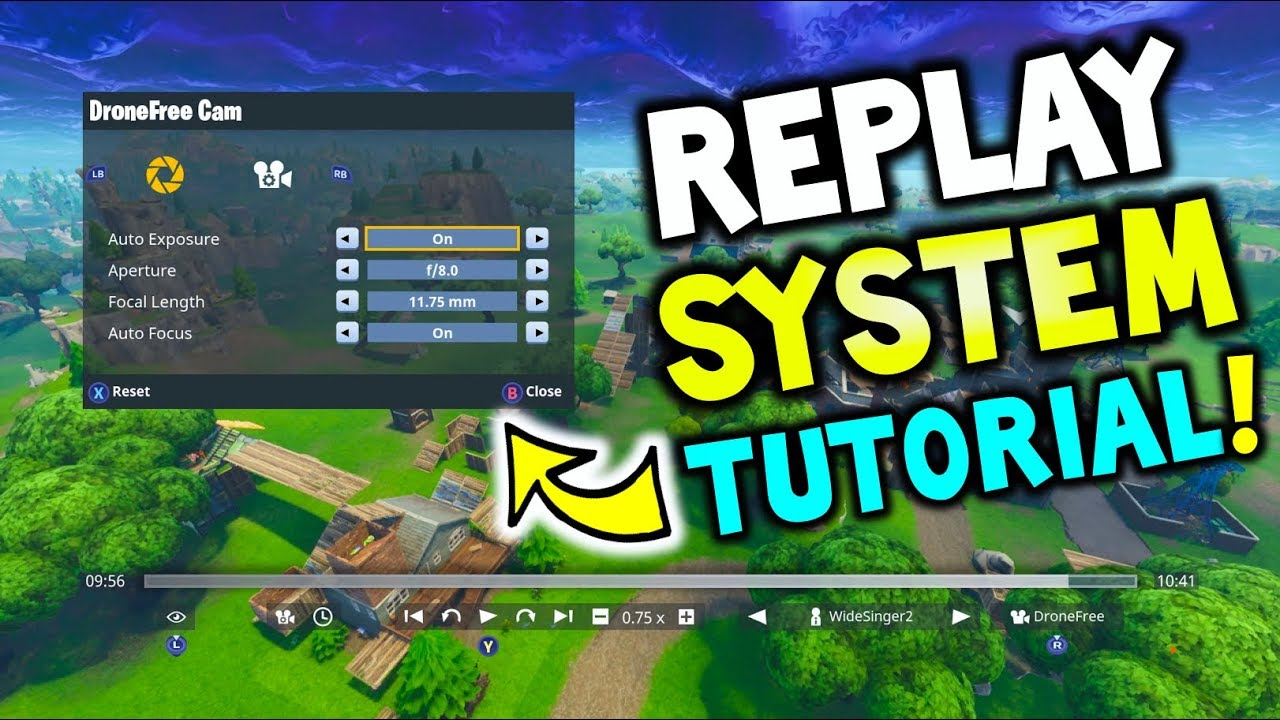 Where Are Replays In Fortnite Fortnite How To Use The Replay System Explained Replay Mode Tutorial Fortnite Battle Royale Youtube