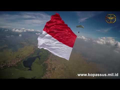 (Band Coklat) Bendera  Merah Putih Berkibar