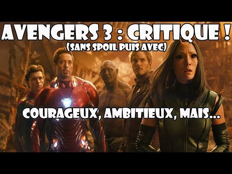 AVENGERS 3 : ambitieux, courageux, mais...