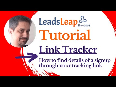 LeadsLeap Tutorial : How to find details of a signup through your tracking link