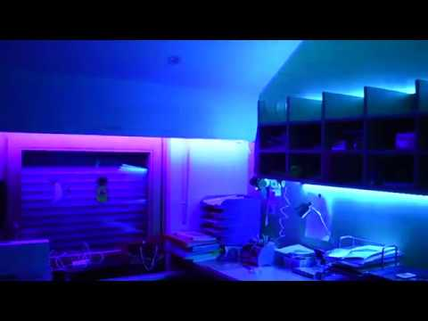 mein zimmer mit led leuchten versch nern youtube. Black Bedroom Furniture Sets. Home Design Ideas