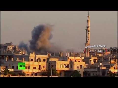 RAW: Syrian Army raiding Al-Nusra in Daraa province