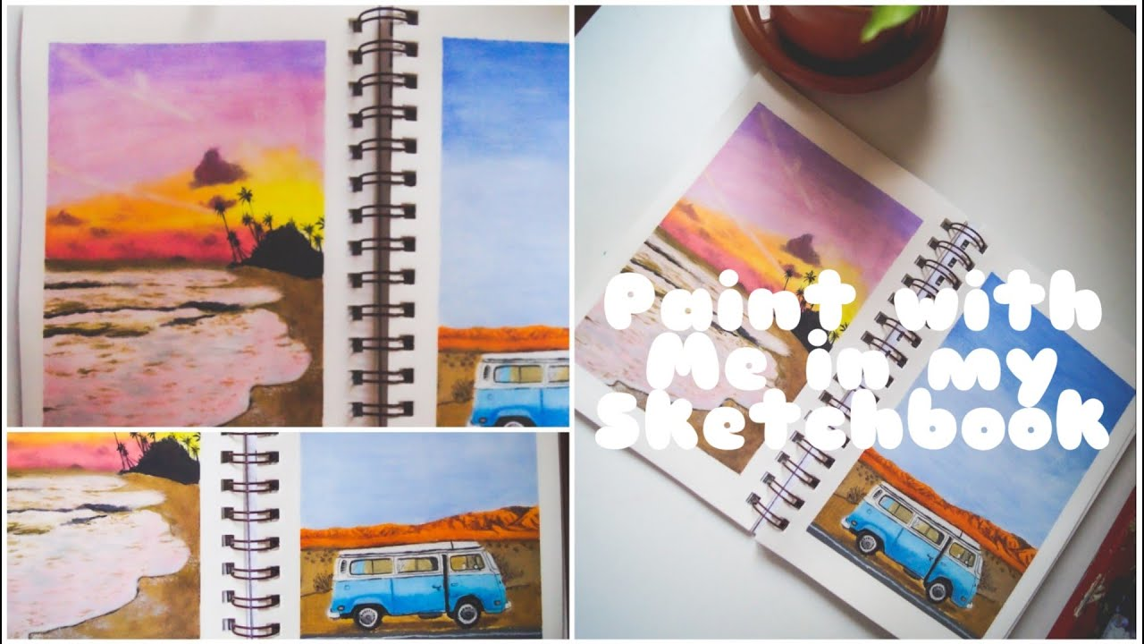 Paint with me on my sketchbook | oil painting