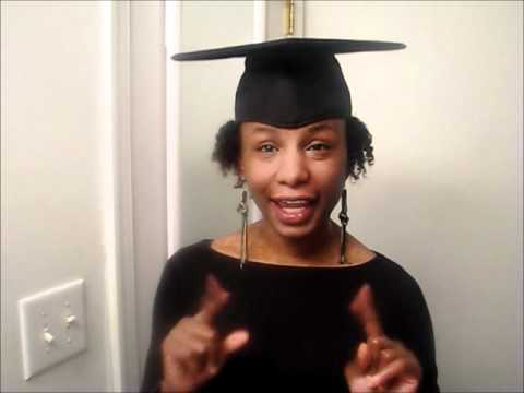 Santasha S Styles Graduation Cap Hairstyle Youtube