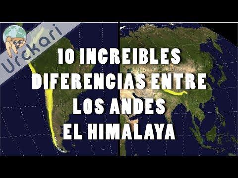 10 Increíbles Diferencias entre Los Andes y El Himalaya