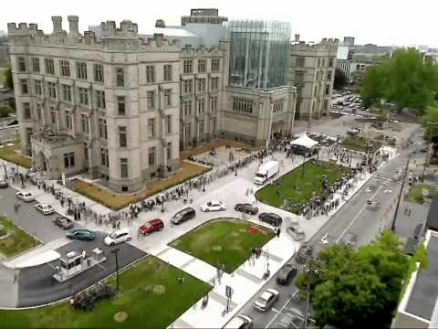Time-Lapse of Grand Reopening of Canadian Museum of Nature
