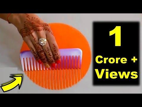 Colourful Rangoli Designs for Diwali | कंघी से बनाये Rangoli Easy and Attractive Design using Comb thumbnail