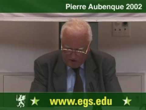 Pierre Aubenque. Deconstruction. 2002 1/5